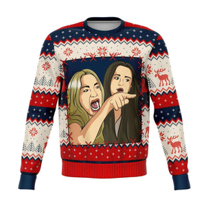 Designs by MyUtopia Shout Out:Meme King Couples P1 Ugly Christmas Sweaters Style Fashion Sweatshirt,XS / Multi,Fashion Sweatshirt - AOP