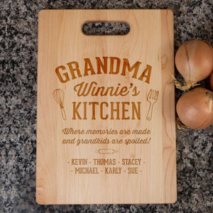 Designs by MyUtopia Shout Out:Memories Are Made In Grandma's Kitchen Personalized Engraved Cutting Board