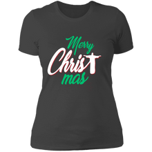 Load image into Gallery viewer, Designs by MyUtopia Shout Out:Merry CHRISTmas - Ultra Cotton Ladies' T-Shirt,Heavy Metal / X-Small,Ladies T-Shirts