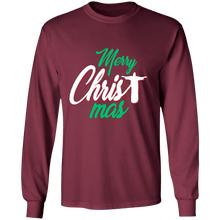 Load image into Gallery viewer, Designs by MyUtopia Shout Out:Merry CHRISTmas - Ultra Cotton Long Sleeve T-Shirt,Maroon / S,Long Sleeve T-Shirts