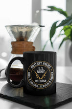 Load image into Gallery viewer, Designs by MyUtopia Shout Out:Military Police Veteran Black Ceramic Coffee Mug