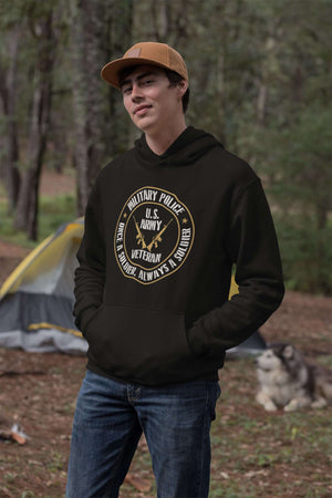 Designs by MyUtopia Shout Out:Military Police Veteran Core Fleece Pullover Hoodie