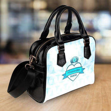 Load image into Gallery viewer, Designs by MyUtopia Shout Out:Mississippi Nurse Blue Faux Leather Handbag with Shoulder Strap