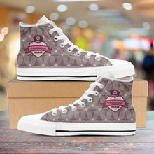 Load image into Gallery viewer, Designs by MyUtopia Shout Out:Mississippi Nurse Canvas High Top Shoes Brown