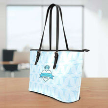 Load image into Gallery viewer, Designs by MyUtopia Shout Out:Mississippi Nurse Faux Leather Totebag Purse Blue