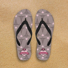 Load image into Gallery viewer, Designs by MyUtopia Shout Out:Mississippi Nurse Flip-Flops,Women's / Women's Small (US 5-6 /EU 35-37) / Brown/Pink,Flip Flops