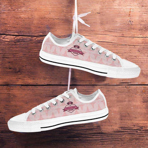 Designs by MyUtopia Shout Out:Mississippi Nurse Lowtop sneakers Pink