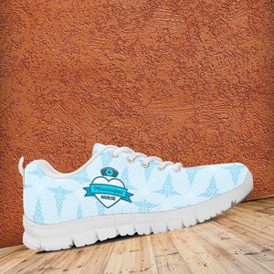 Designs by MyUtopia Shout Out:Mississippi Nurse Running Shoes Blue