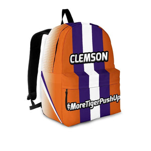 Designs by MyUtopia Shout Out:#MoreTigerPushUps Clemson Fan Backpack,Large (18 x 14 x 8 inches) / Adult (Ages 13+) / Orange,Backpacks