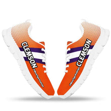 Load image into Gallery viewer, Designs by MyUtopia Shout Out:#MoreTigerPushUps Clemson Fan Running Shoes