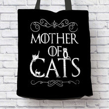Load image into Gallery viewer, Designs by MyUtopia Shout Out:Mother of Cats Fabric Totebag Reusable Shopping Tote
