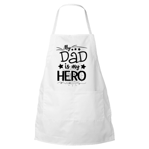 Designs by MyUtopia Shout Out:My Dad My Hero Apron,White,Apron
