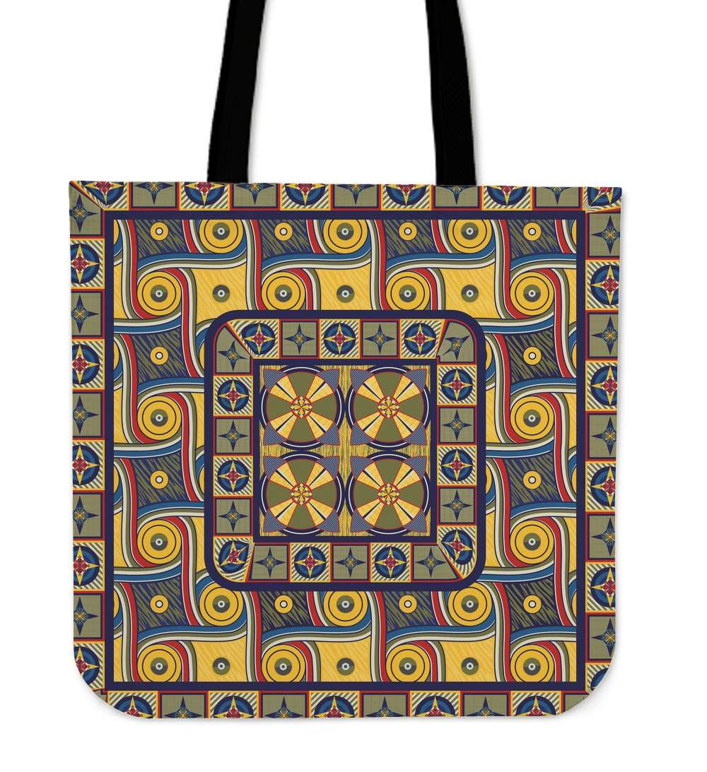 Designs by MyUtopia Shout Out:My Happy Place Galifrey One Carpet Fabric Reusable Shopping Tote