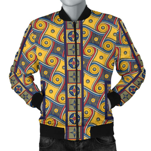 Designs by MyUtopia Shout Out:My Happy Place Gallifrey One Carpet Men's Bomber Jacket,S / Multi,Bomber Jacket