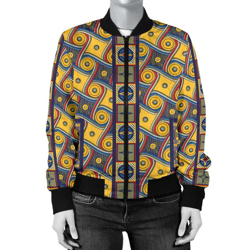 Designs by MyUtopia Shout Out:My Happy Place Gallifrey One Carpet Women's Bomber Jacket,S / Multi,Bomber Jacket