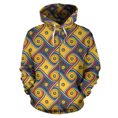 Designs by MyUtopia Shout Out:My Happy Place Gallifrey One Zip-Up Hoodie,Men's / S / Multicolor,Zip Hoodie