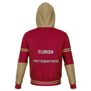Designs by MyUtopia Shout Out:#MyTribeMyPride Florida Fashion Fleece Lined Pullover Hoodie