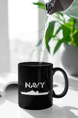 Designs by MyUtopia Shout Out:Navy Battleship Ceramic Coffee Mug