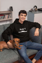 Load image into Gallery viewer, Designs by MyUtopia Shout Out:Navy Battleship Core Fleece Pullover Hoodie