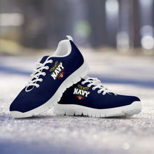Load image into Gallery viewer, Designs by MyUtopia Shout Out:Navy Wings Running Shoes,Kid's / Kid's 11 CHILD (EU28) / Navy Blue/White,Running Shoes