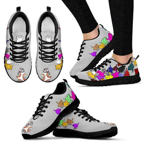 Designs by MyUtopia Shout Out:Nekos Chasing BB-8  Mesh Running Shoes