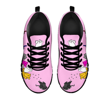 Load image into Gallery viewer, Designs by MyUtopia Shout Out:Nekos Chasing Mouse Droid - Women's Running Shoes,Pink / Black / Ladies US5 (EU35),Running Shoes