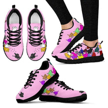 Load image into Gallery viewer, Designs by MyUtopia Shout Out:Nekos Chasing Mouse Droid - Women's Running Shoes