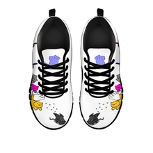 Load image into Gallery viewer, Designs by MyUtopia Shout Out:Nekos Chasing Mouse Droid - Women's Running Shoes,White / Black / Ladies US5 (EU35),Running Shoes