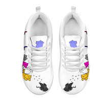 Load image into Gallery viewer, Designs by MyUtopia Shout Out:Nekos Chasing Mouse Droid - Women's Running Shoes,White / White / Ladies US5 (EU35),Running Shoes