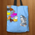 Designs by MyUtopia Shout Out:Nekos Chasing R2-D2 Fabric Totebag Reusable Shopping Tote,Blue,Reusable Fabric Shopping Tote Bag