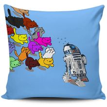 Load image into Gallery viewer, Designs by MyUtopia Shout Out:Nekos Chasing R2-D2 Pillowcases,Blue,Pillowcases