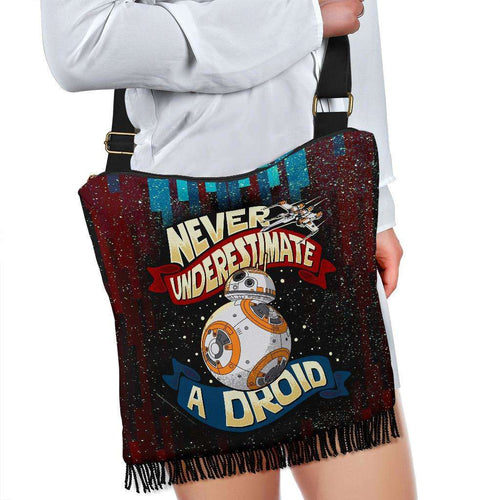 Designs by MyUtopia Shout Out:Never Underestimate a Droid Fabric Hobo Crossbody Purse