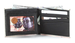 Designs by MyUtopia Shout Out:New Mexican 500 Peso Note Vegan Leather Bifold Men's Wallet with Flip Up ID Window