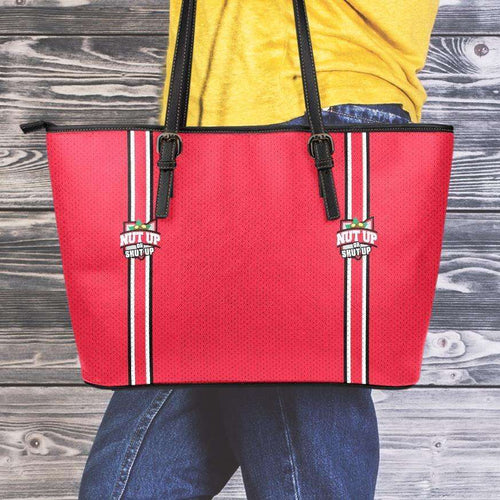 Designs by MyUtopia Shout Out:#NutUpOrShutUp Ohio State Fan Faux Leather Totebag Purse,Med (10 x 16 x 5) / Red,tote bag purse