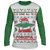 Designs by MyUtopia Shout Out:O Come All Ye Forceful Inspired by Baby Yoda Ugly Christmas 'sweater' Long Sleeve T-Shirt,White/Green / S,Long Sleeve T-Shirts