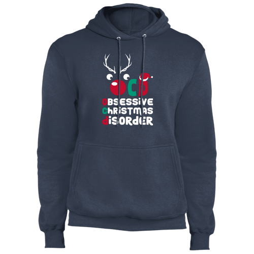 Designs by MyUtopia Shout Out:OCD - Obsessive Christmas Disorder - Core Fleece Unisex Pullover Hoodie,Navy / S,Sweatshirts