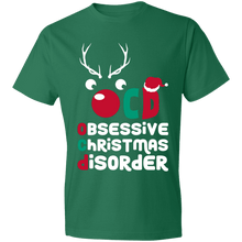 Load image into Gallery viewer, Designs by MyUtopia Shout Out:OCD - Obsessive Christmas Disorder - Lightweight Unisex T-Shirt,Kelly Green / S,Adult Unisex T-Shirt