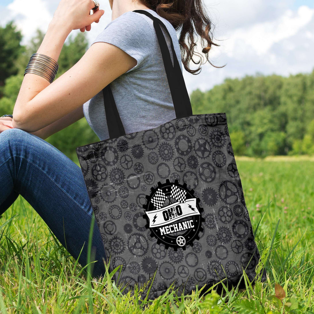 Designs by MyUtopia Shout Out:Ohio Mechanic Fabric Totebag Reusable Shopping Tote