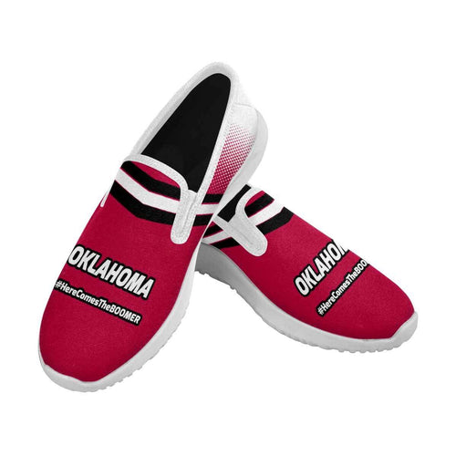 Designs by MyUtopia Shout Out:Oklahoma Sooners Slip-on Mens Canvas Sneakers