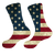 Designs by MyUtopia Shout Out:Old Glory Flag Socks,Ladies Small (4-6) / Blue/Red/Off-White,Socks