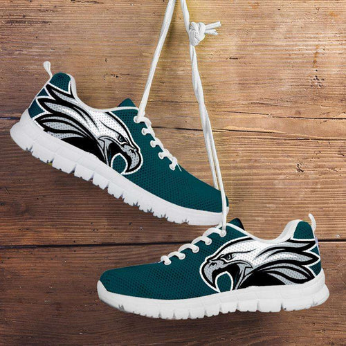 Designs by MyUtopia Shout Out:Philadelphia Fan Art Eagle on Green Running Shoes