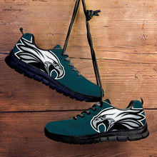 Load image into Gallery viewer, Designs by MyUtopia Shout Out:Philadelphia Fan Art Running Shoes,Kid's / 11 CHILD (EU28) / Green,Running Shoes
