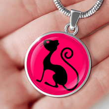 Load image into Gallery viewer, Designs by MyUtopia Shout Out:Pink Cat in Profile
