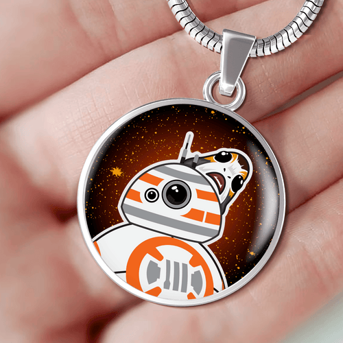 Designs by MyUtopia Shout Out:Porgs Playing with BB-8 Handcrafted Jewelry,Necklace w/18