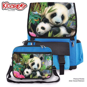 Designs by MyUtopia Shout Out:Precious Pandas Backpack And Lunchbox set,Blue,Backpacks