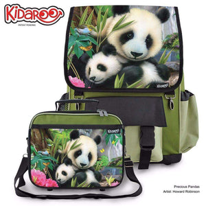 Designs by MyUtopia Shout Out:Precious Pandas Backpack And Lunchbox set,Khaki,Backpacks