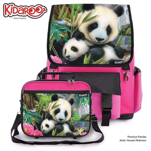 Designs by MyUtopia Shout Out:Precious Pandas Backpack And Lunchbox set,Pink,Backpacks