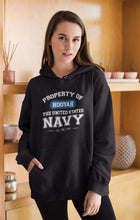 Load image into Gallery viewer, Designs by MyUtopia Shout Out:Property of  Hooyah US Navy Core Fleece Pullover Hoodie