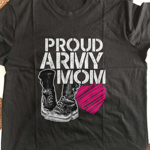 Designs by MyUtopia Shout Out:Proud Army Mom Adult Unisex T-Shirt