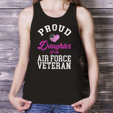Load image into Gallery viewer, Designs by MyUtopia Shout Out:Proud Daughter of an Air Force Veteran Tank Top